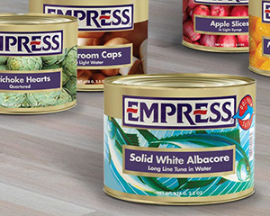 Empress Can Packaging Labels