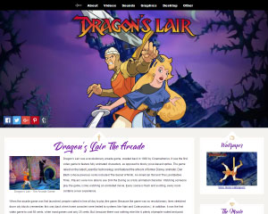 Dragon's Lair Website Example
